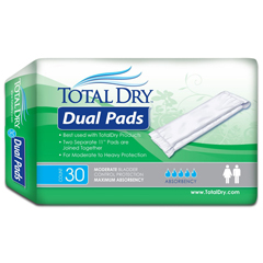 MON19113110 - Secure Personal Care ProductsIncontinence Liner TotalDry 11 Inch Length Moderate Absorbency One Size Fits Most Unisex Disposable, 30/BG, 6BG/CS