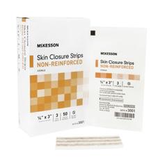 MON19142040 - McKesson - Skin Closure Strip 1/4 x 3 Non-Reinforced Strip Tan