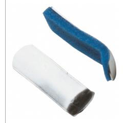 MON19253000 - DJOFinger Splint PROCARE Curved Padded Aluminum / Foam Left or Right Hand Silver / Blue Medium