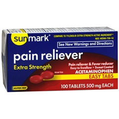 MON19772700 - McKessonPain Reliever sunmark® Tablets 500 mg, 100 per Bottle