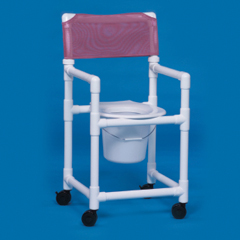 MON20013300 - Innovative ProductsShower Commode Chair With Arms PVC Mesh Back 21 Inch