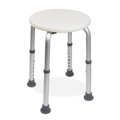 MON20043500 - McKesson - Shower Stool Without Arms Aluminum Frame Without Backrest 13.5 to 21