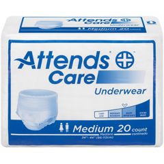 MON20103110 - AttendsAdult Absorbent Underwear Attends® Pull On Medium Disposable Moderate Absorbency