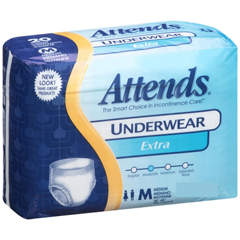 MON20103120 - AttendsAdult Absorbent Underwear Attends® Pull On Medium Disposable Moderate Absorbency