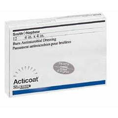 MON440433PK - Smith & Nephew - Acticoat Burn Antimicrobial Barrier Dressing Antimicrobial Barrier Dressing 4 x 4 Sterile