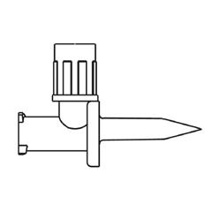 MON142032CS - B. Braun - IV Additive Dispensing Pin Mini-Spike  Needle-free, Luer Lock, 50 EA/CS