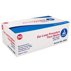 MON20221200 - DynarexEar Loop Procedure Face Masks, 50EA/BX