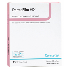 MON584130EA - Dermarite - Hydrocolloid Dressing DermaFilm 4 x 4 Square Sterile