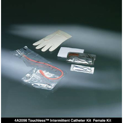 MON20561950 - Bard MedicalIntermittent Catheter Tray Touchless Female / Urethral 14 Fr. Without Balloon Red Rubber