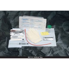MON21151900 - Bard MedicalIntermittent Catheter Tray Bardia Urethral 15 Fr. Without Balloon Red Rubber