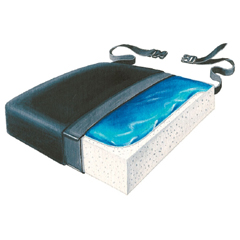 MON21344300 - Skil-CareSeat Cushion 16 X 18 X 2-1/2 Inch Gel / Foam