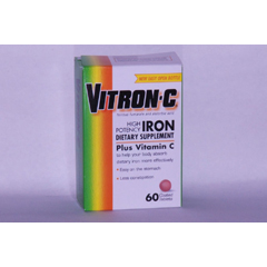 MON21372700 - Emerson HealthcareIron Supplement Vitron-C® 125 mg / 65 mg Strength Coated Tablet 60 per Bottle
