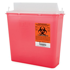MON21472800 - McKessonSharps Container Prevent® 5 Quart Horizontal Entry Lid