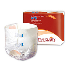 MON21583101 - PBEBrief Full Mat Brief ATN 32-44 Medium White Maximum Absorbency, 12EA/BG