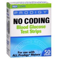 MON868671BX - Prodigy Diabetes Care - No Coding Blood Glucose Test Strip Prodigy® 50 Test Strips per Box