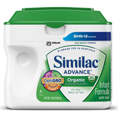 MON21782601 - Abbott NutritionInfant Formula Similac® Advance® Organic 23.2 oz. Can Powder