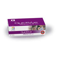 MON21832400 - QuidelRapid Diagnostic Test Kit QuickVue® Influenza A + B Nasal Swab, Nasopharyngeal Swab, Nasal Wash / Nasal Aspirate Sample CLIA Waived 25 Tests