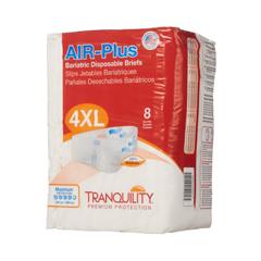 MON763435BG - PBE - AIR Plus® Bariatric Briefs, 70-106 Inch Waist, 8/BG