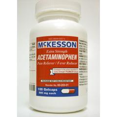 MON22012700 - McKessonPain Reliever Gelcaps 500 mg, 100EA per Bottle