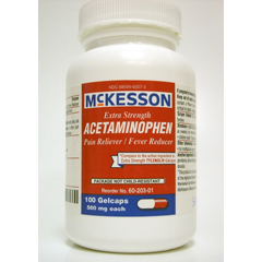 MON22012712 - McKessonPain Relief 500 mg Strength Gelcap 100 per Bottle