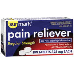 MON22022700 - McKessonPain Relief sunmark 325 mg Strength Tablet 100 per Box