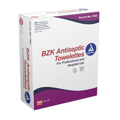 MON22131210 - DynarexTowelette BZK 5 X 7 Inch Individual Packet, 100EA/BX 10BX/CS