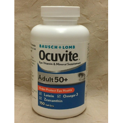 MON902215BT - Valeant Pharmaceuticals - Eye Vitamin Supplement Occuvite Adult 50+ 30 IU / 150 mg Strength Softgel 50 per Bottle
