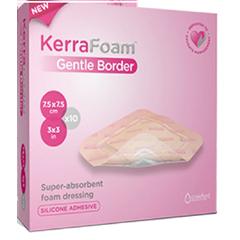 MON22172000 - Crawford HealthcareKerraFoam™ Gentle Border Silicone Foam Dressing (CWL1012), 10/BX