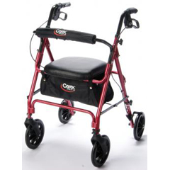 MON22203800 - Apex-Carex - Rollator Red Rolling Walker Aluminum