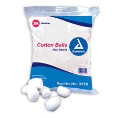 MON22311200 - DynarexCotton Ball Medium Cotton Nonsterile, 2000EA/PK