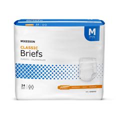 MON22723100 - McKessonIncontinent Brief Lite Tab Closure Medium Disposable Light Absorbency