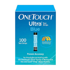 MON22892400 - Life ScanBlood Glucose Test Strip OneTouch Ultra Blue 100 Test Strips per Box