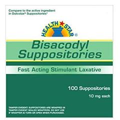 MON23012700 - McKessonBisacodyl Laxative Suppositories 10Mg 100Ct Compare To Dulcolax
