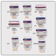 MON23102012 - BSN MedicalAdhesive Strip Coverlet® Fabric 1 X 3 Inch Rectangle Beige, 100EA/BX 12BX/CS