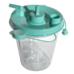 MON23233900 - Sunset HealthcareSuction Canister 800 cc Leak-free Seal, 10EA/CS