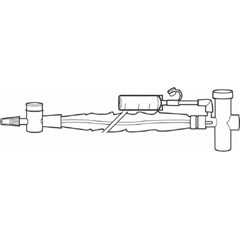 MON23564020 - HalyardClosed Suction System Trach Care Wet Pak® T-Piece 14 Fr. Thumb Valve, 20/CS