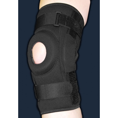 MON23793000 - DJOHinged Patella Knee Wrap ProStyle® 2X-Large / 3X-Large Wraparound / Hook and Loop Straps 19 to 23 Inch Left or Right Knee