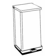 MON24007100 - Detecto ScaleInfectious Waste Receptacle Detecto® 6 Gallon Red Steel