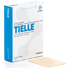 MON24402110 - Systagenix - Adhesive Dressing Tielle® Hydropolymer 4-1/4 X 4-1/4 Inch Square Beige