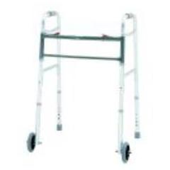 MON24413800 - Merits HealthBariatric Folding Walker Adjustable Height Aluminum 500 lbs., 2EA/CS