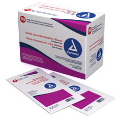 MON24531301 - DynarexExam Glove Dynarex Sterile Powder Free Latex Ivory Not Chemo Approved Large Ambidextrous
