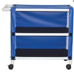 MON25303400 - MJM International - 2 Shelf Linen Cart with Cover 300 Series 3TW Caster 100 lbs., 1/ EA