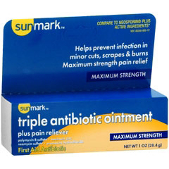 MON25521400 - McKessonTriple Antibiotic and Pain Reliever sunmark® 1 oz. Ointment