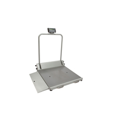 MON26003700 - Health O MeterDigital Wheelchair Scale Health O Meter LCD Display 1000 lbs. / 454 kg Gray AC Adapter or 6 AA Battery Operated