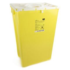 MON26022801 - McKesson - Sharps Container Prevent® 24.68H X 17.3W X 13L Inch 18 Gallon Yellow - Chemo