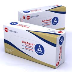 MON26121301 - DynarexExam Glove Safetouch® NonSterile Powder Free Vinyl Smooth Ivory Medium Ambidextrous, 100EA/BX