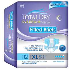 MON26743100 - Secure Personal Care ProductsAdult Incontinent Brief Total Dry Tab Closure X-Large Disposable Heavy Absorbency, 12/BG
