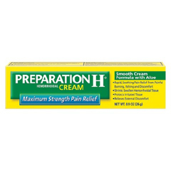 MON26921400 - PfizerHemorrhoid Relief Preparation H Cream 0.9 oz. (1937382)