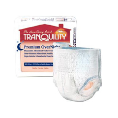 MON27113101 - PBEAbsorbent Underwear Tranquility Premium OverNight™ 48-66 X-Large Blue 34 oz. Absorbency, 14EA/PK