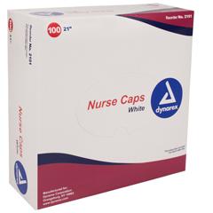 MON27211100 - DynarexNurse Cap White Elastic Headband, 100EA/BX